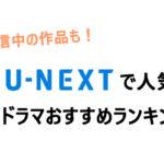 独占配信中の作品も!unextで人気の韓国ドラマおすすめランキング!