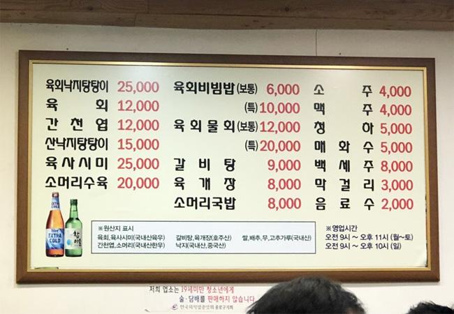 韓国ミシュランプチョンユッケ