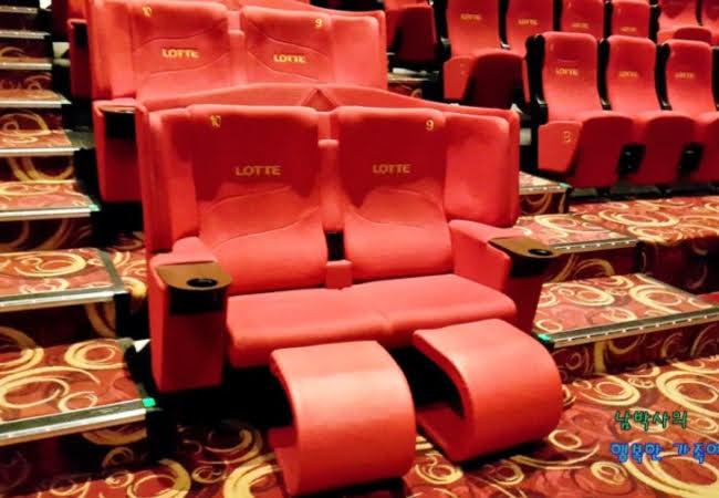 韓国映画館カップルシート