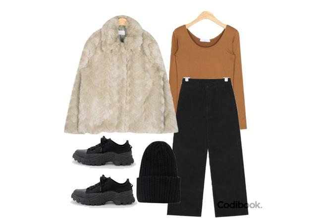 韓国ファッションコーディネート3