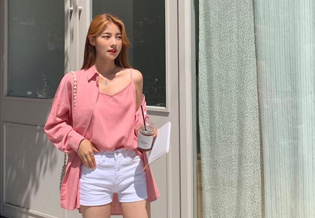 シンプル韓国ファッション