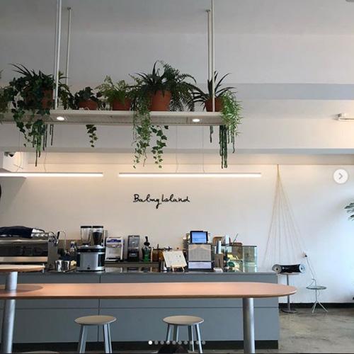 チェジュ島のカフェ通り